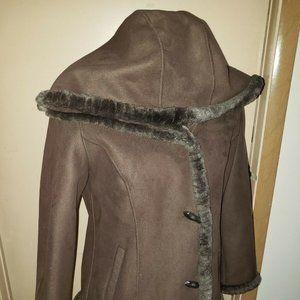 Jones New York Sport Long Sleeve Hooded Coat